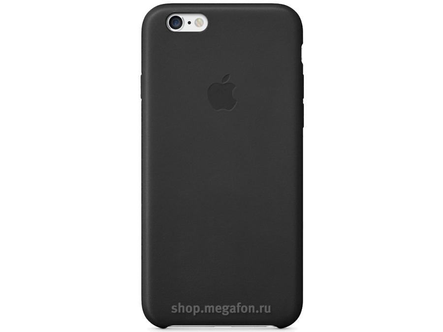 Чехол-крышка Apple MGQX2ZM/A для Apple iPhone 6 Plus, кожа, черный