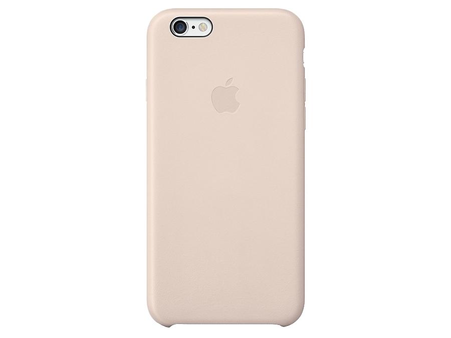Чехол-крышка Apple MGR52ZM/A для Apple iPhone 6 , кожа / пластик, розовый